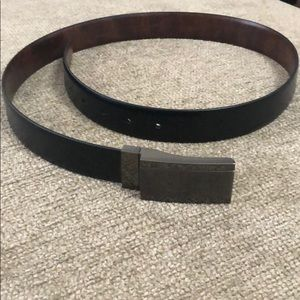 Reversible leather belt (black and brown)